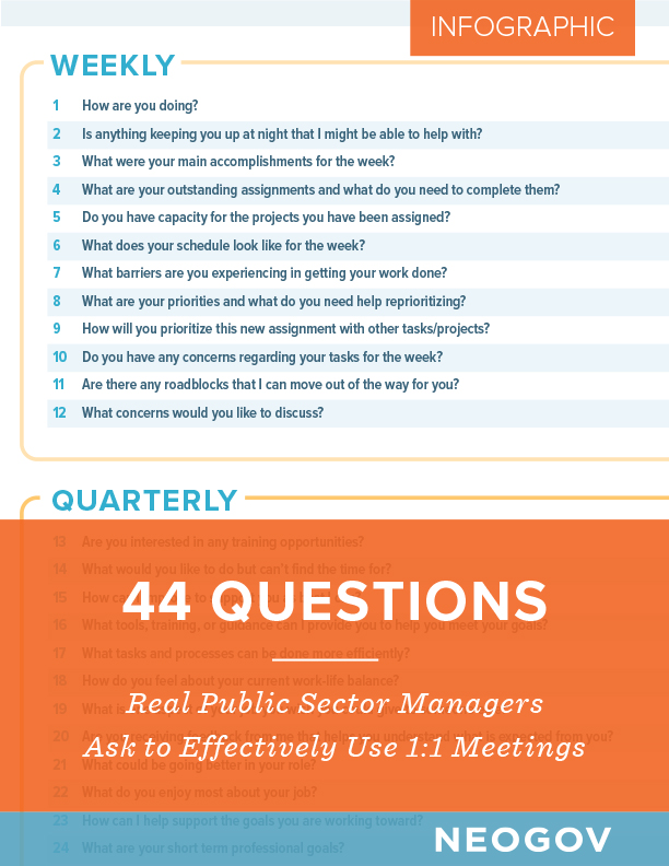 Infographic: 44 One-on-One Questions