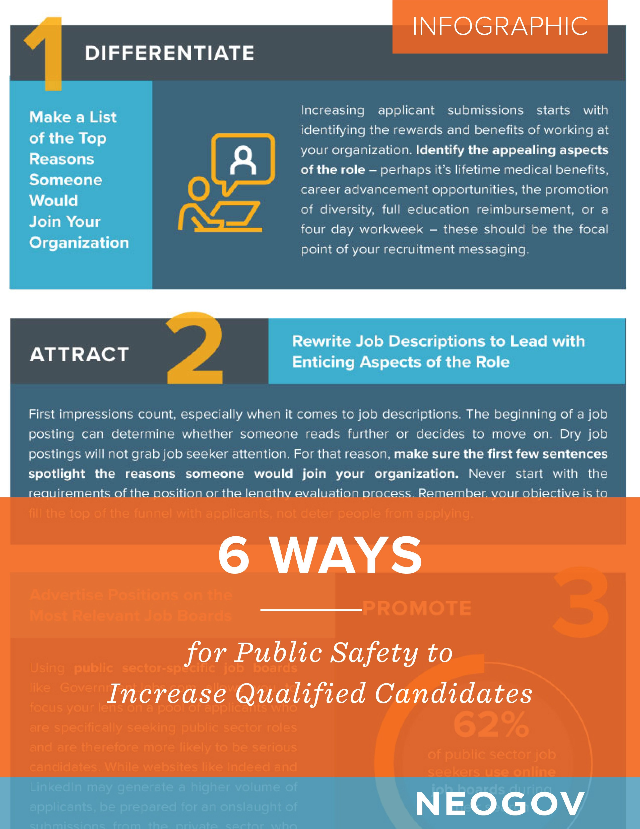 Infographic: 6 Ways for Public Safety to Increase Qualified Candidates