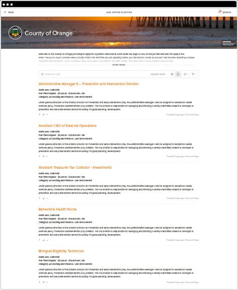online job application software screenshot