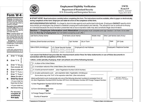 new hire employee forms