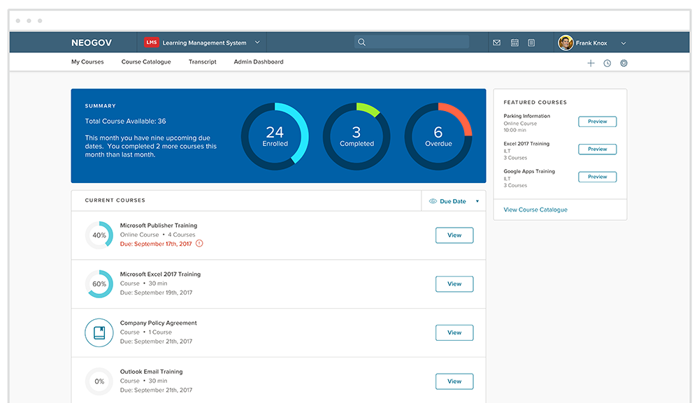Learn software screenshot