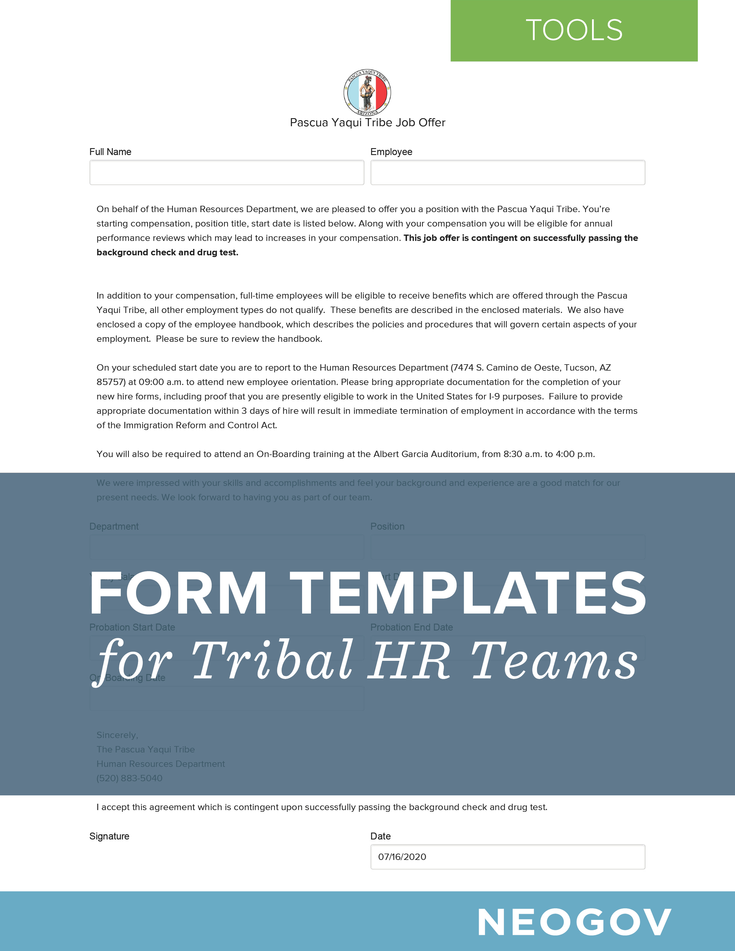Form Templates for Tribal HR Teams